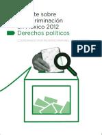 Reporte Sobre La Discriminación en México 2012 Derechos Políticos CONAPRED