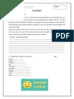 296992631 Test Paper Clasa 6 Engleza