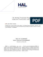 On Testing Constraint Programs
