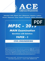 MPSC 2019 Main Examination Question With Solutions Paper I
