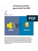 Internet of Sound and the Missed Opportunity by BLE