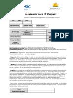 Habilitación de usuario para ID Uruguay