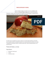 Torta de Frutas y Avena