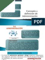S 2 Concepto de Administración
