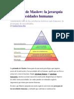 Clase 1- Subjetividad Pirámide de Maslow