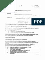 Supreme Court Petition 23.08.19