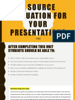 A Source Evaluation for Your Presentation