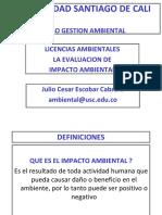 PAES Tema 5 Licencias Ambientales y Evaluacion Impacto