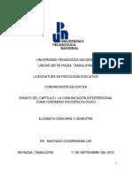 Comunicación Interpersonal Como Fenómeno Sociopsicológico