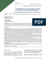 Comparison LED v CFL Phototherapy