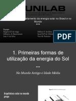 Histórico Do Aproveitamento Da Energia Solar No Brasil e No Mundo