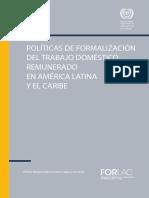 Políticas de Formalización Trabajo No Remunerado a. Latina