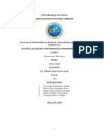 Empresa Backus SAC Informe Avance