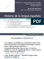 Historia Lengua Espanola Tema 6