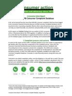 Cfpb Full Dbase Report