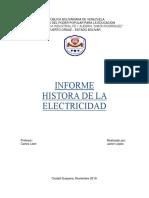 Informe de La Historia de La Electricidad