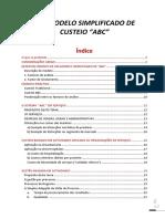 Modelo Simplificado de Custeio ABC