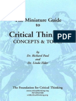 Miniature Guide to Critical Thinking Concepts and Tools