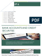 Bank Accounts and Credit Securities
