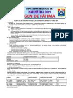 Bases Del Segundo Concurso Regional de Matematica-2019