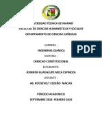Cuadro Comparativo Entre La Constitución de 1998 y La Constitución Del 2008