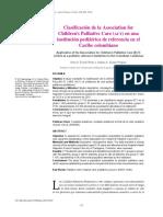Clasificación de la Association for Children's Palliative Care (Act) en una institución pediátrica de referencia en el  Caribe colombiano
