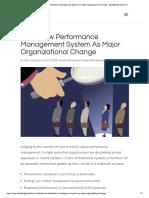 Treat New Performance Management System...Ational Change - SteelBridge Solutions