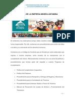 Política de La Empresa Minera Antamina
