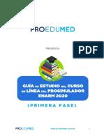 Guia de Estudio Curso en Linea Del Prosimulador Enarm 2020 Primera Fase Nuevo Sistema Vf