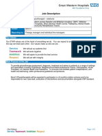 Physiotherapist Rotational B5 JD 051218