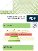 History, Significance, And Analysis of Nursing Theory New