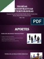 Teorías Administrativas Conemporaneas (1)