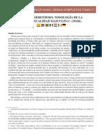 Selecciones Ferenczianas Obras Completas Tomo II Homoerotismo Nosologia de La Homosexualidad Masculina 1914b