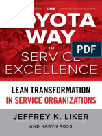 The Toyota Way to Service Excellence by Jeffrey K. Liker