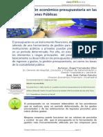 Gestión presupuestaria pública