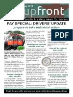 Upfront Tube Drivers' News, November 2019