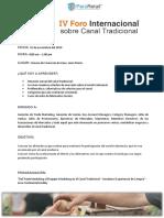 Ficha Informativa Foro Canal Tradicional A