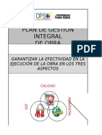 Plan de Gestión Integral de Obra - GUIA