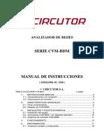 Circutor CVM-BDM Serie User Manual