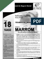 INSS_Prova_Cargo_NM_18_Caderno_Marron