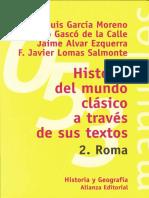 Varios - Historia Del Mundo Clasico a Traves de Sus Textos II - Roma