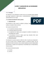 Unidad 11 Disolucion y Liquidacion de Las Sociedades Mercantiles