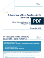 Fit for Work Europe National Best Practices