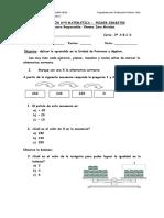 Evaluación Patrones y Álgebra