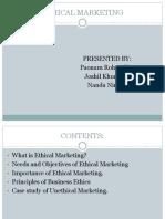 Ethical Marketing MBA
