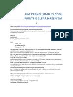 Fazendo Um Kernel Simples Com Funcoes Prin - Rodrigo