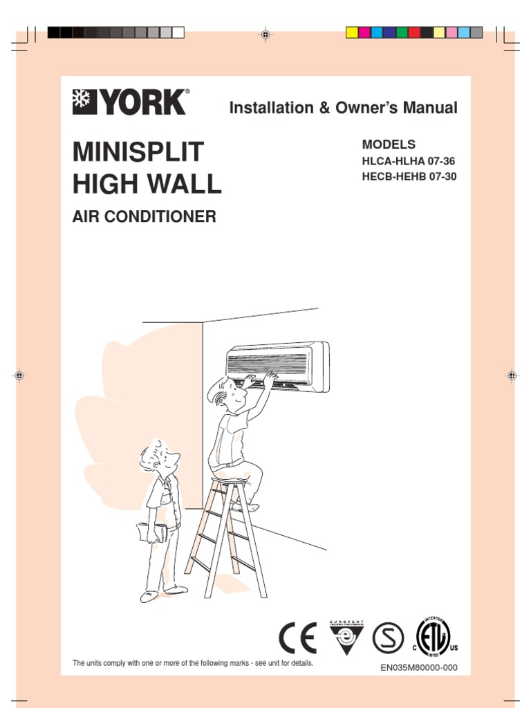 York Ac Split Units Hehb Manual Air Conditioning Heat Pump Con Mini Wiring Diagram