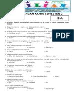 Soal UAS IPA Kelas 2 SD Semester 2 Dilengkapi Kunci Jawaban