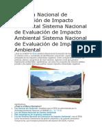 Sistema Nacional de Evaluación de Impacto Ambiental Sistema Nacional de Evaluación de Impacto Ambiental Sistema Nacional de Evaluación de Impacto Ambiental.docx