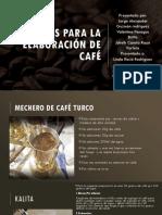 metodos de cafe